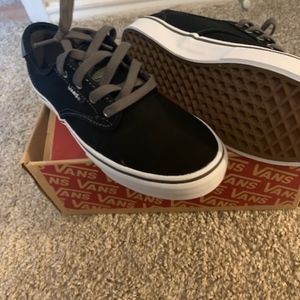 Brand New Vans- black and gray